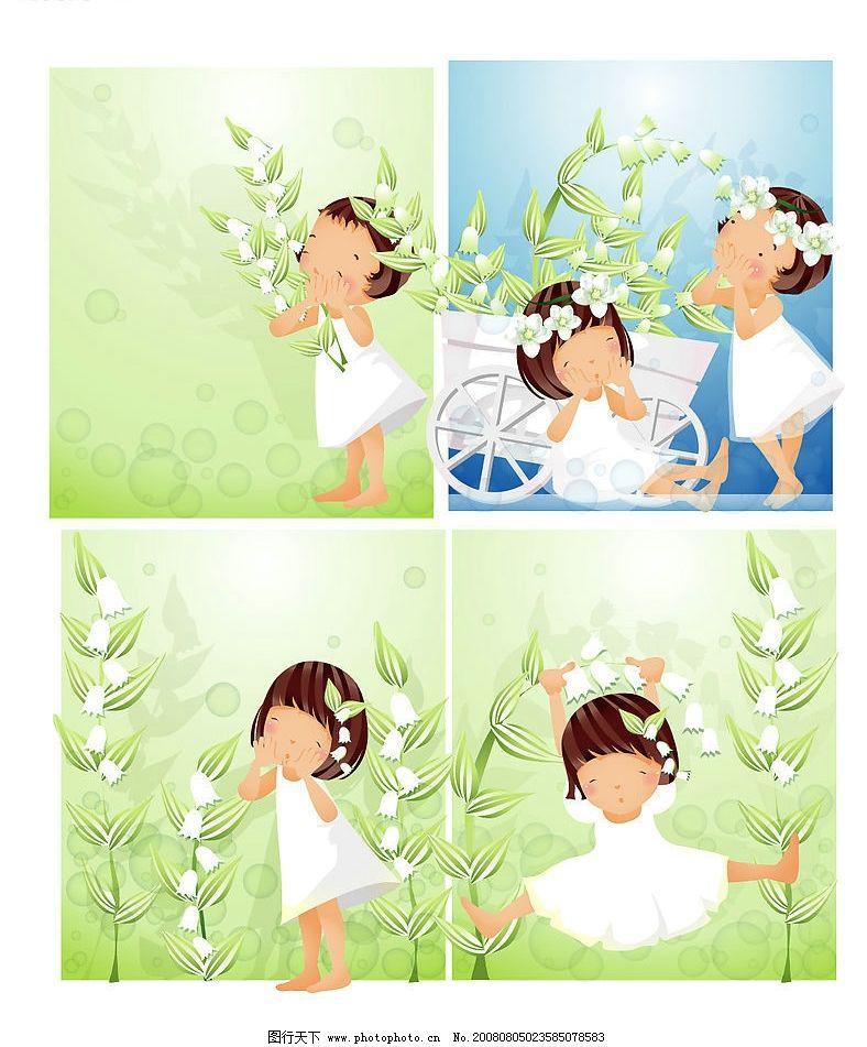 女孩白色花朵主图片
