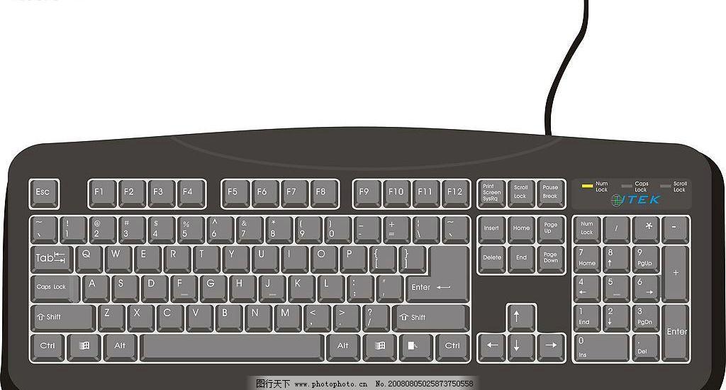 键盘 电脑 矢量 生活百科 电脑网络 矢量图库 cdr