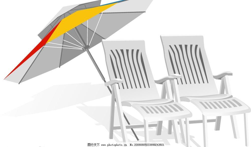沙滩椅 美丽的情侣沙滩椅! 其他矢量 矢量素材 矢量图库 ai