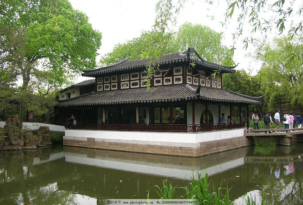 苏州园林 拙政园 自然景观 自然风景 摄影图库 72dpi jpg