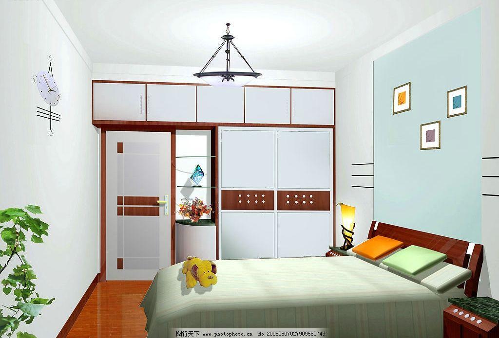 室内效果图 卧室效果 环境设计 室内设计 设计图库 72dpi jpg