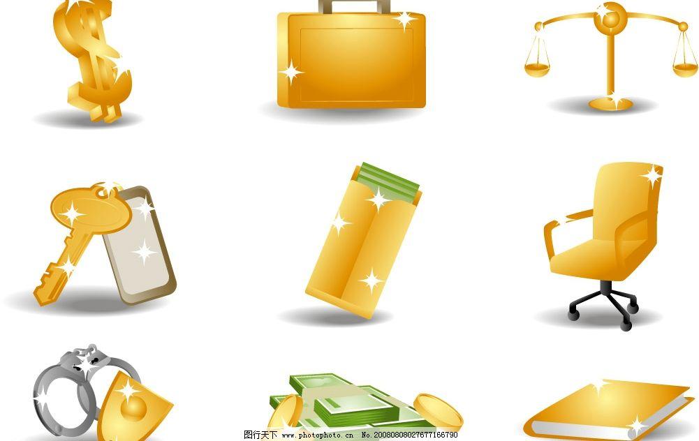 金钱黄金主题图标矢量素材图片