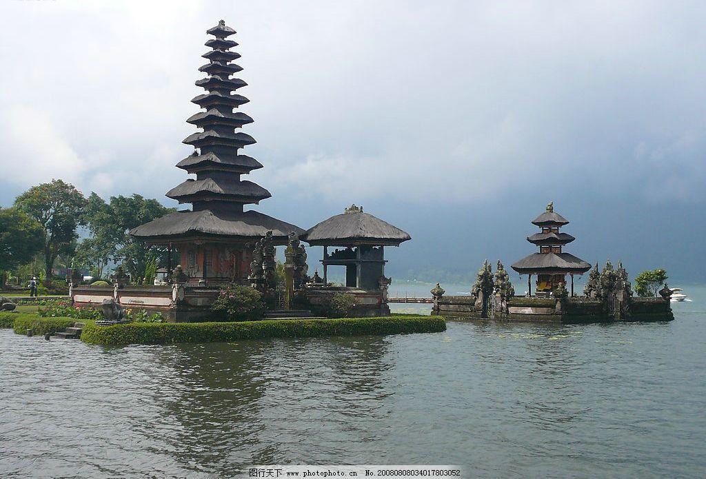 巴厘岛百度谷 寺庙 湖 神龛 祭祀 舍利塔 旅游摄影 国外旅游 摄影图库