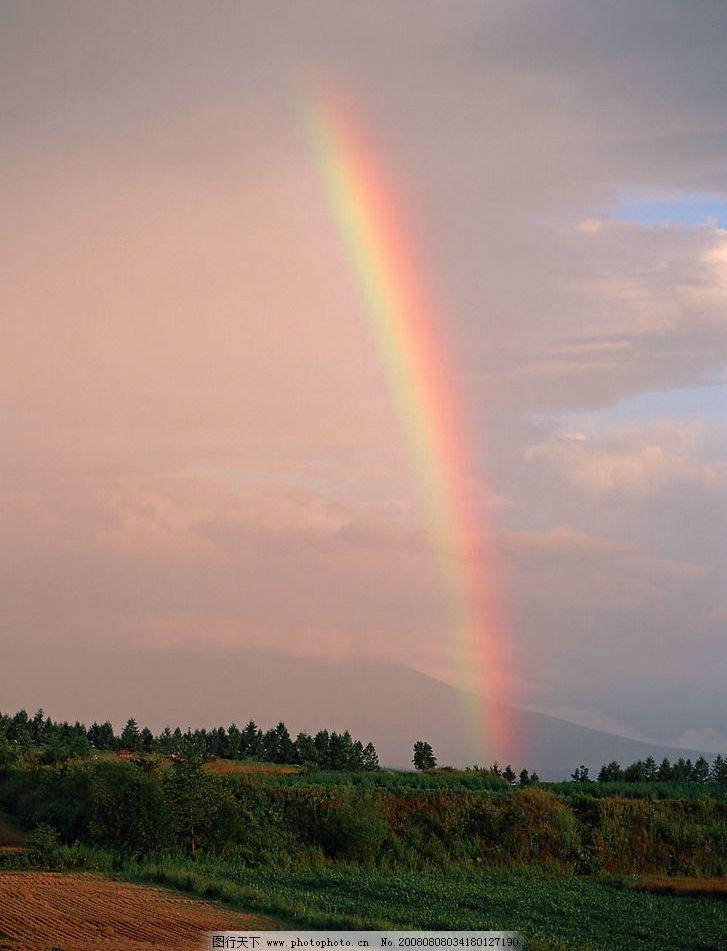 很美的彩虹风景图片_自然风景_旅游摄影_图行天下图库