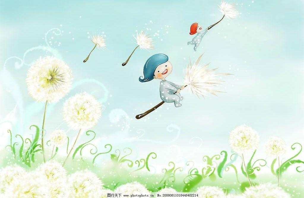韩国插画 春之娇图片