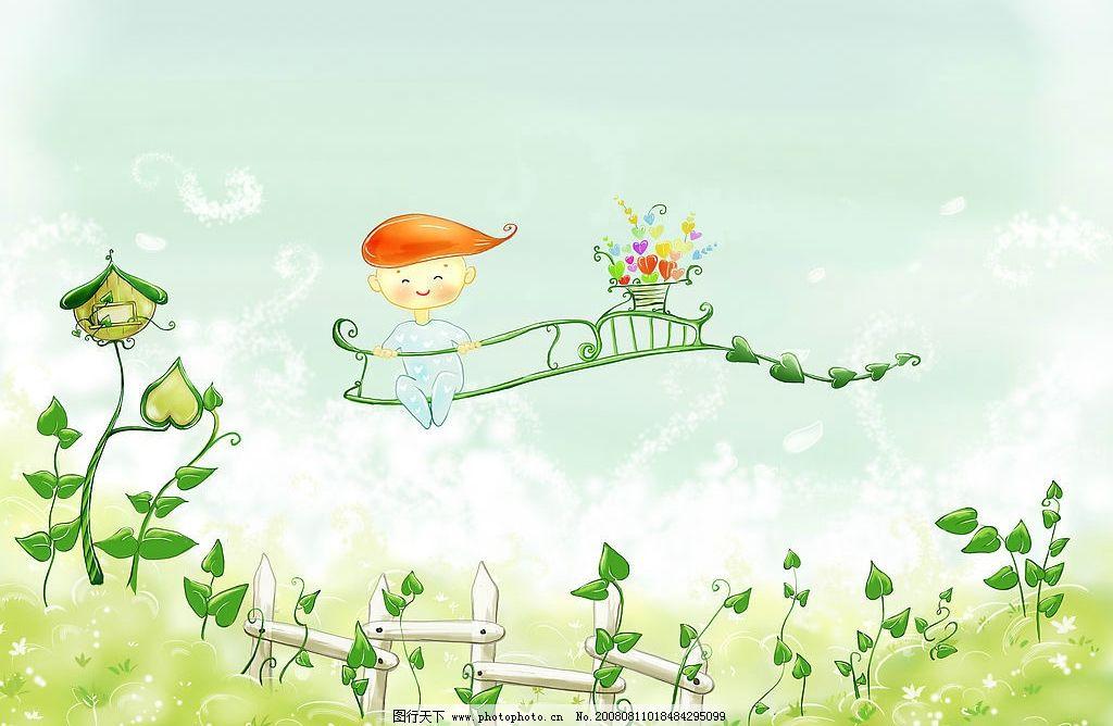 韩国插画 春之娇图片_风景漫画_动漫卡通_图行天下图库