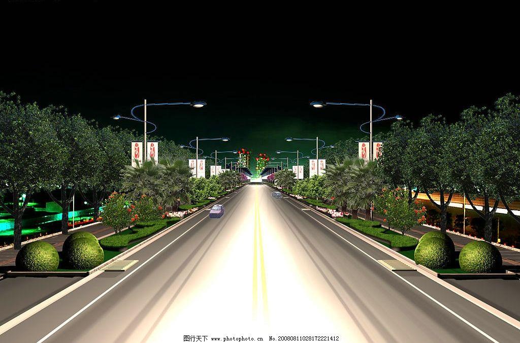 休闲广场景观效果图 景观 植物 道路 环境设计 景观设计 景观效果图