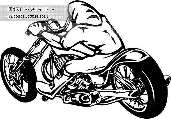 矢量欧美花纹元素 游戏摩托车怪物 游戏
