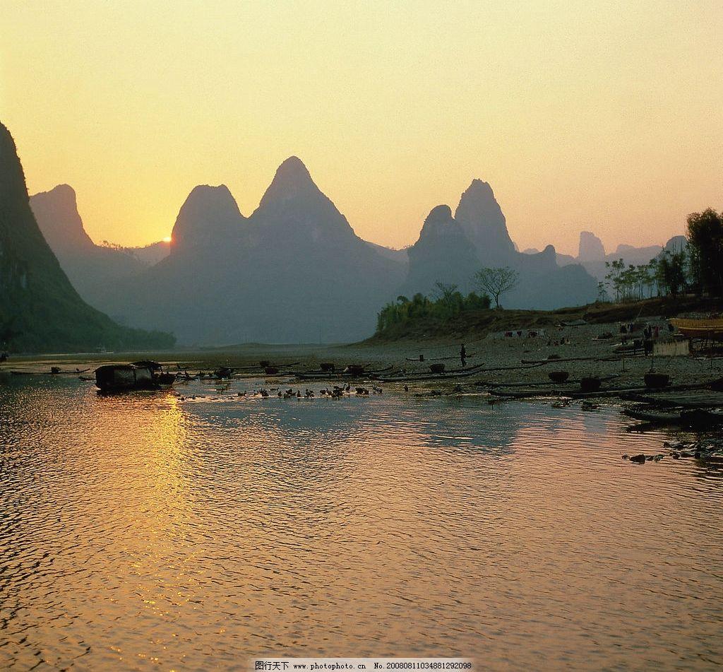 杭州湾夕阳美景