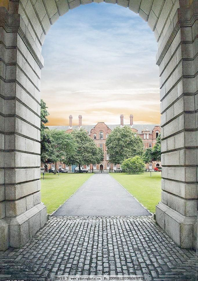 欧式拱门花园图片
