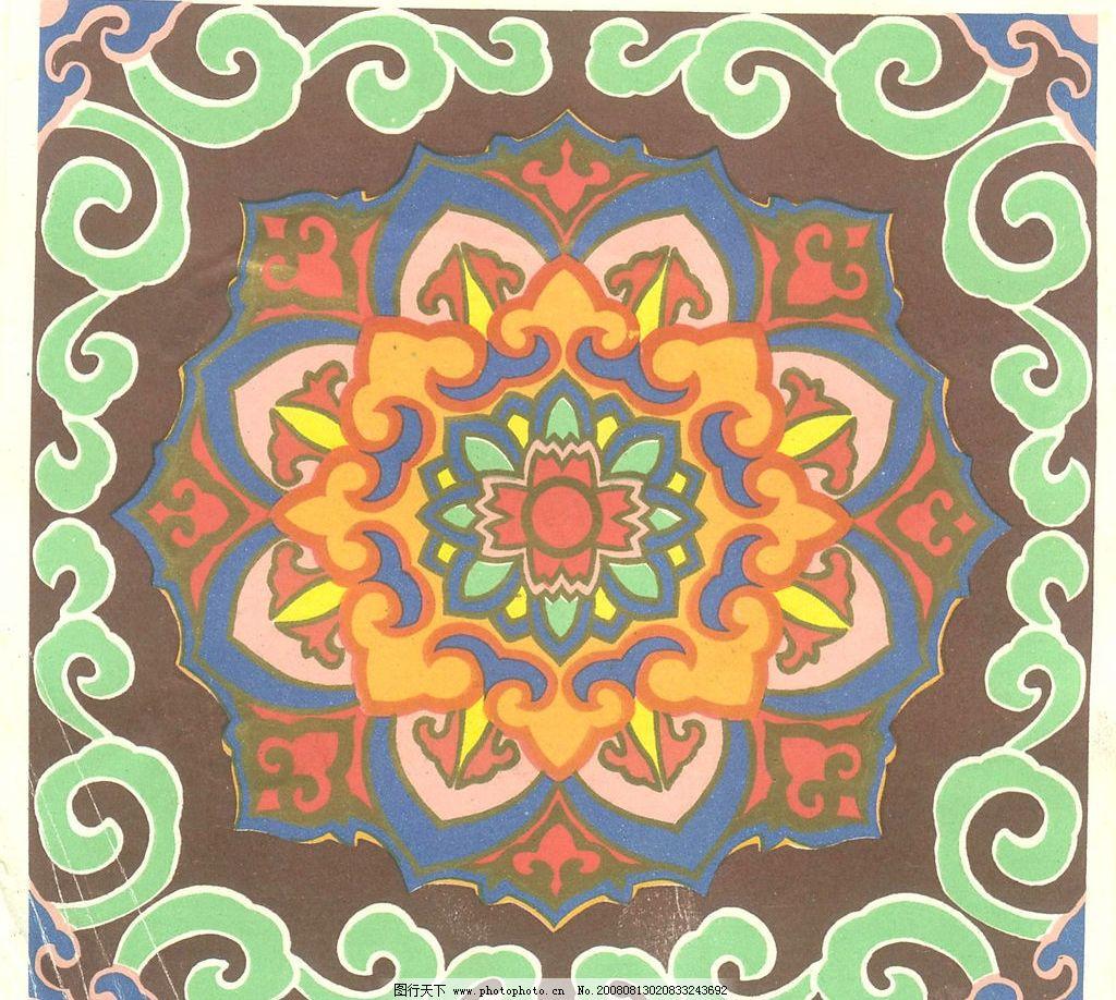 蒙古图案 蒙古花纹 底纹边框 其他素材 设计图库 200dpi jpg