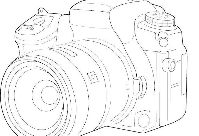 矢量线描相机图片