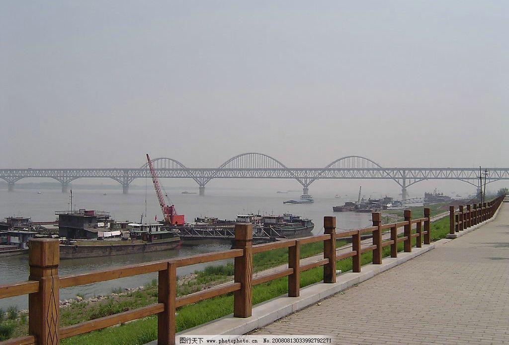 九江沿江风景 长江大桥 城市风貌 旅游摄影 国内旅游 摄影图库 72dpi