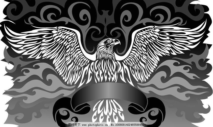 鹰主题矢量素材图片