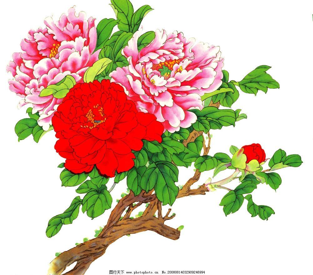 牡丹花布艺贴画材料