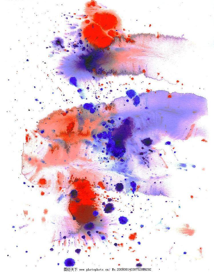 水彩墨迹图片素材27 墨水 痕迹 彩色 色彩 美术绘画 摄影图库