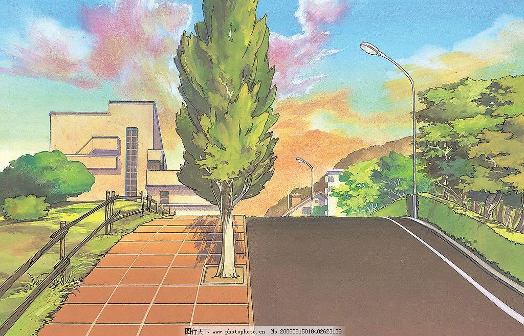 日本高质动漫风景插画图片