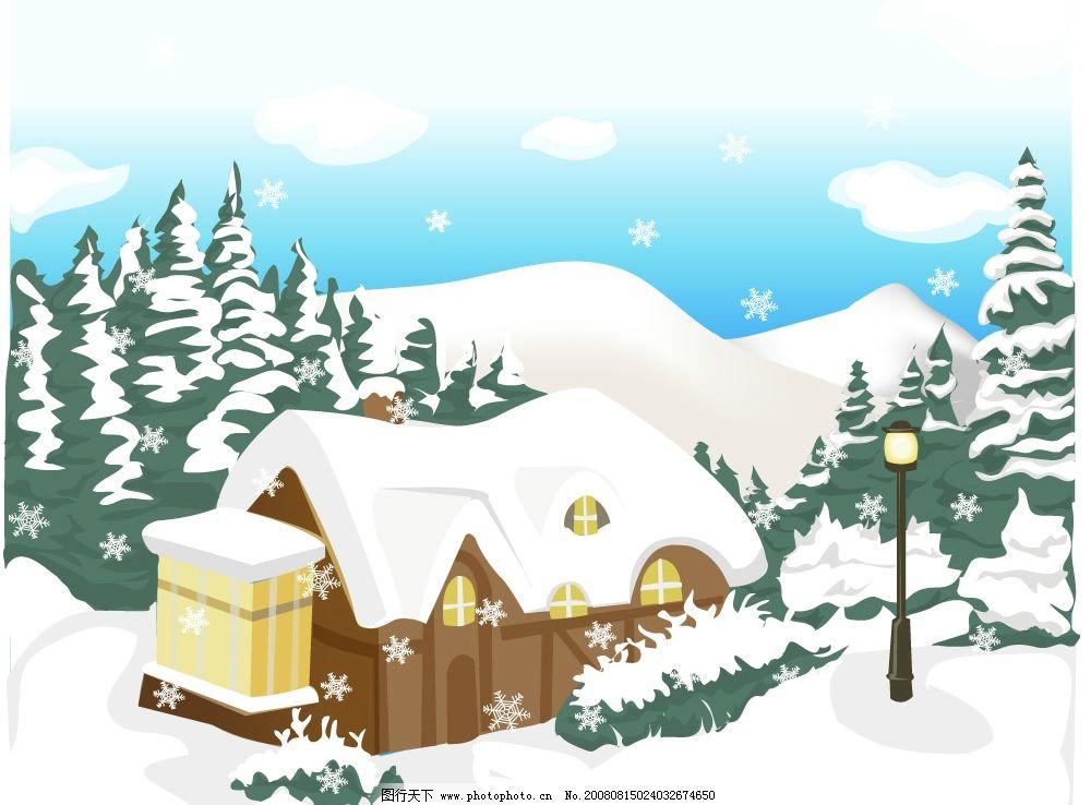 冬天1 自然风景 四季 矢量图库