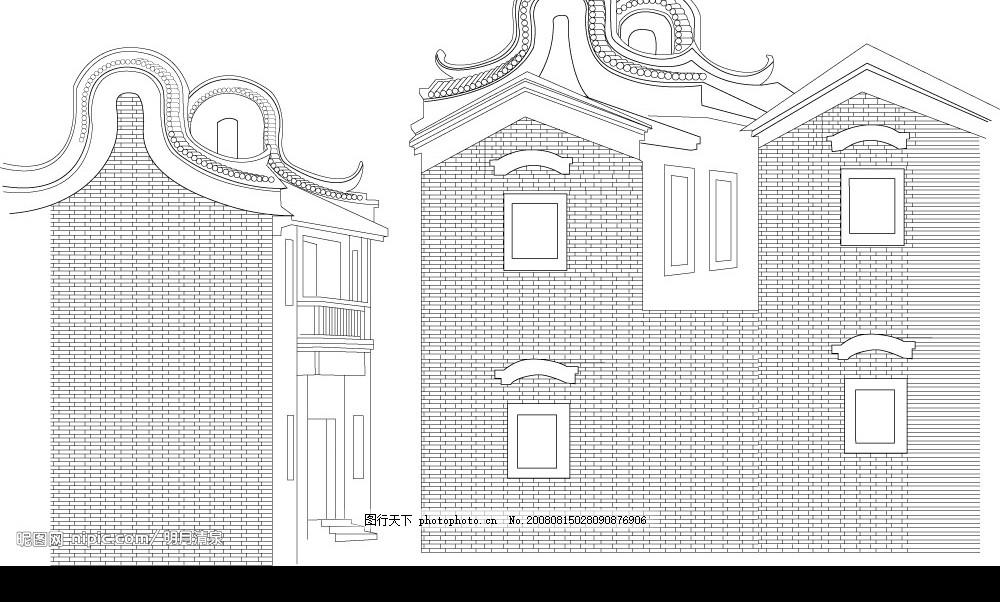 广东传统建筑矢量图 广东民居 建筑家居 中国元素矢量图 矢量图库