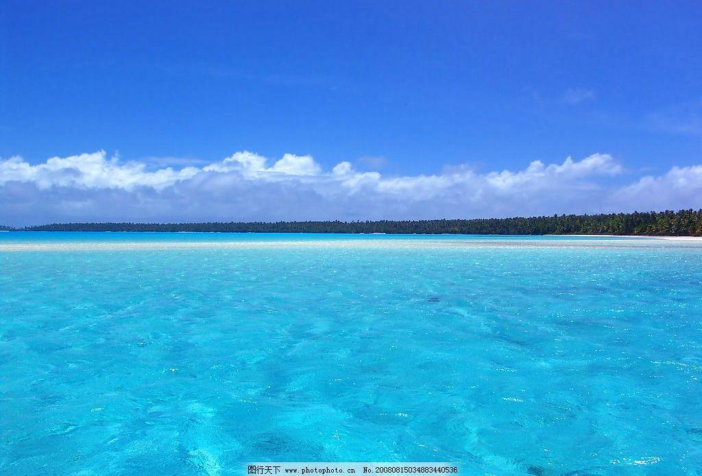 大海 海水 天空 蓝色 自然景观 自然风景 摄影图库 300dpi jpg