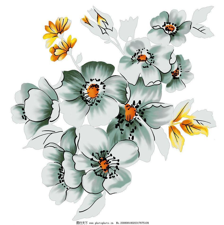 花纹 梅花 水彩 底图 底纹边框 花边花纹 设计图库 254dpi jpg