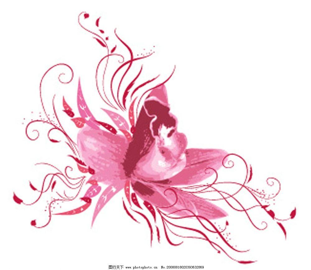矢量花朵 花卉 花纹 雏菊 莲花 矢量素材 底纹边框 花纹花边 矢量图库