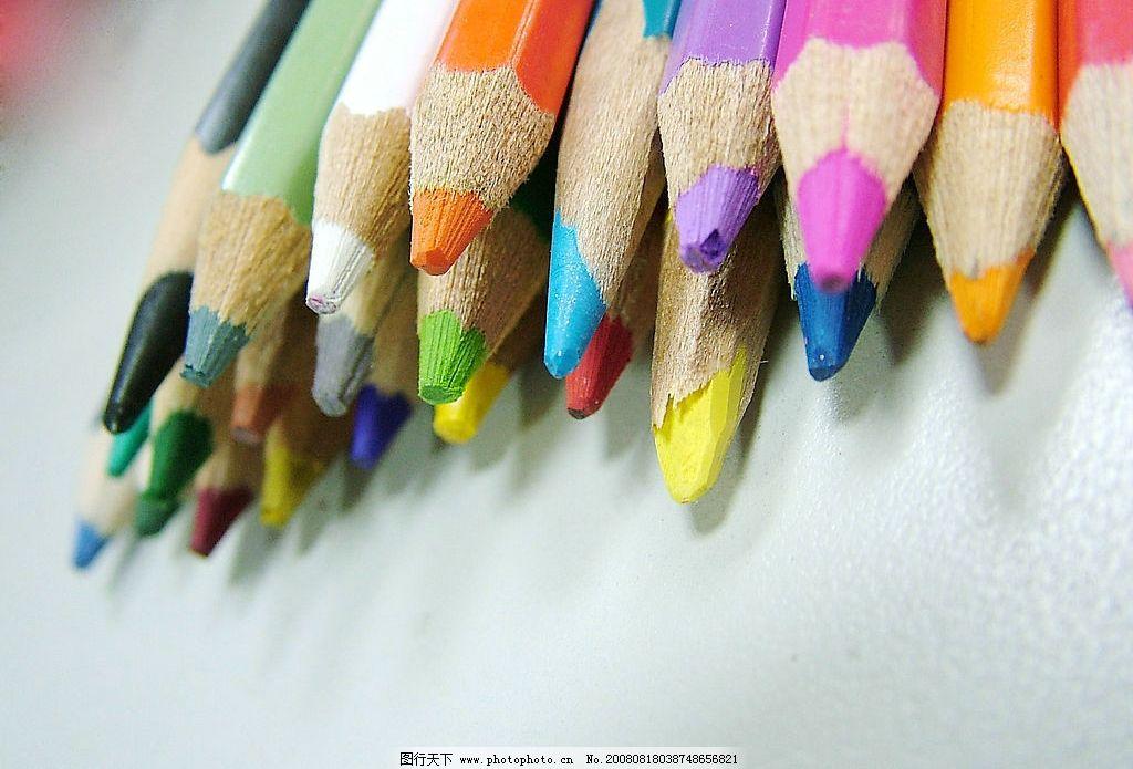 彩色铅笔 铅笔 彩色 艺术 文化艺术 美术绘画 摄影图库 72dpi jpg