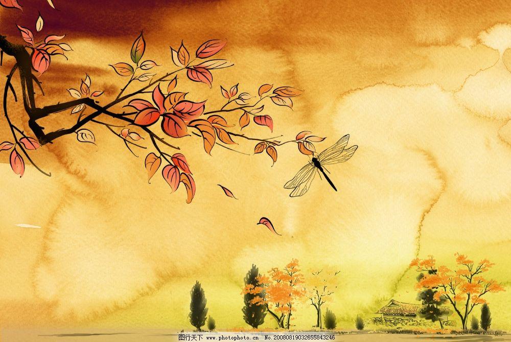 秋天背景设计模板图片