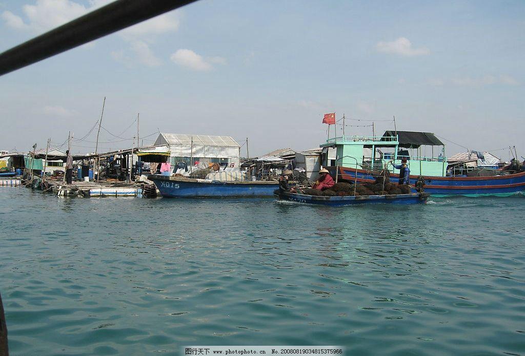渔船 打鱼 渔民 码头 海南 自然景观 自然风景 摄影图库
