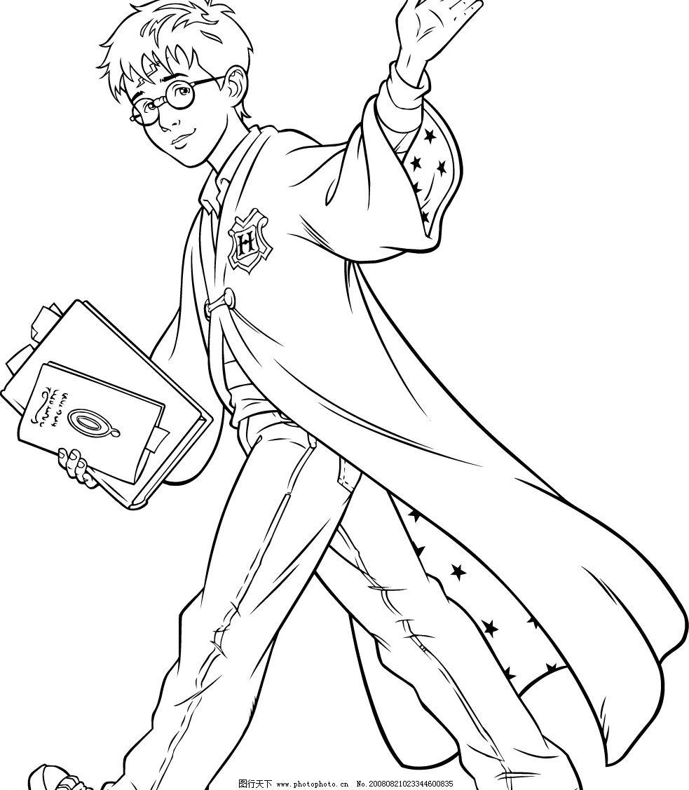 矢量线描哈利波特4图片