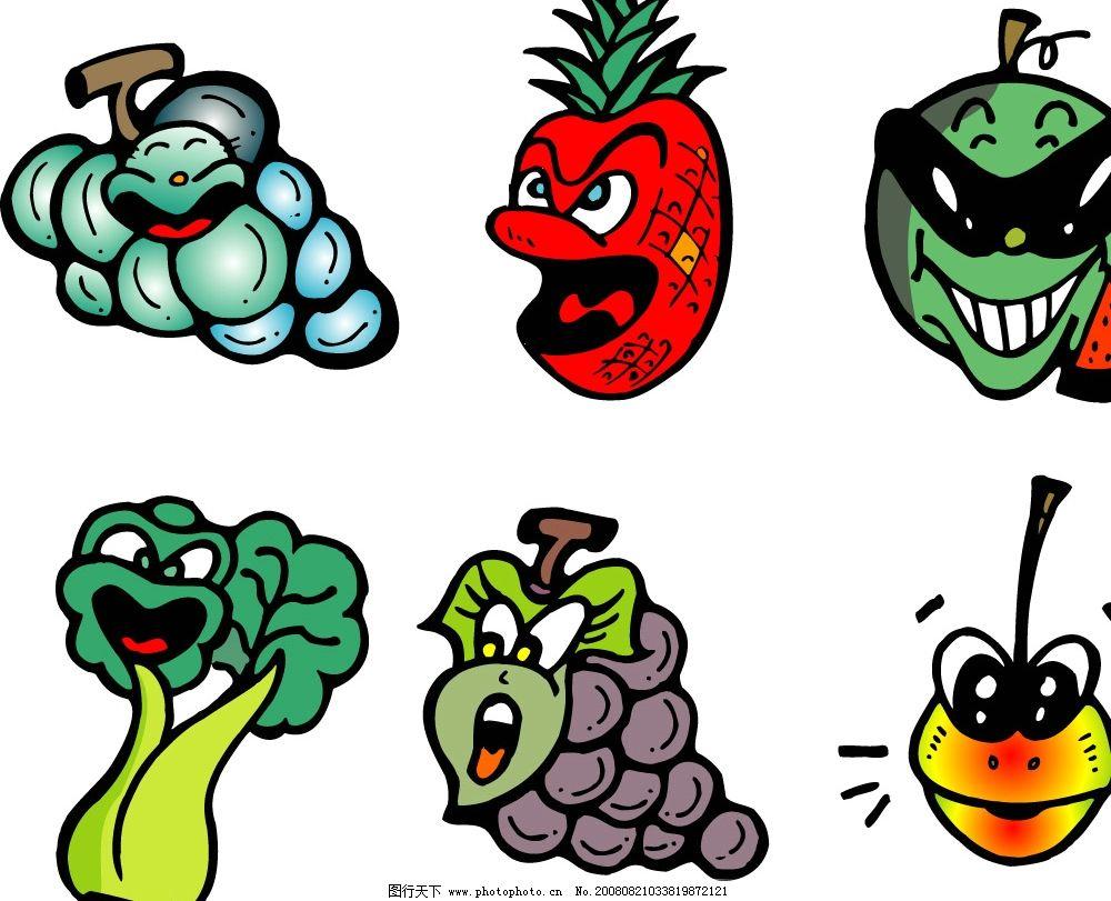 搞笑水果失量图 漫画 其他矢量 矢量素材 矢量图库