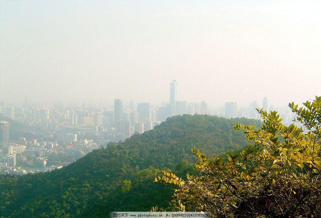 白云山 山 楼 城市 自然 旅游摄影 自然风景 摄影图库 72dpi jpg