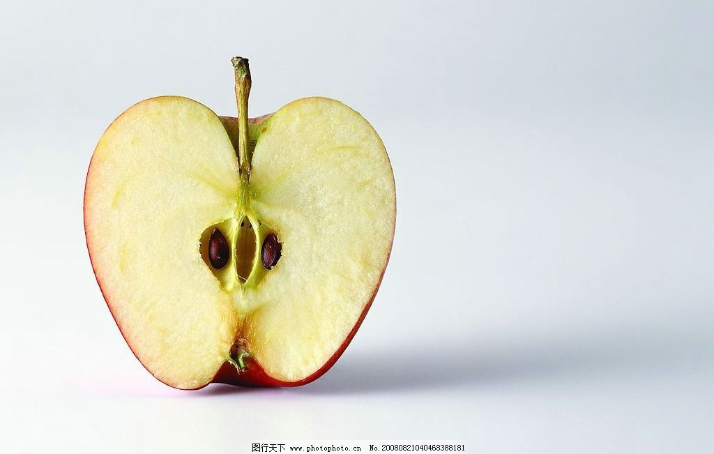 切开的苹果 水果 苹果 切开的 一半 餐饮美食 食物原料 摄影图库 jpg图片