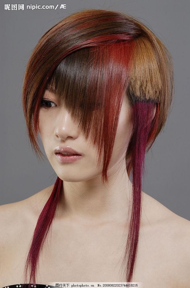 发型 美容美发 剪发 烫发 染发 美发造型 女性女人 摄影图库