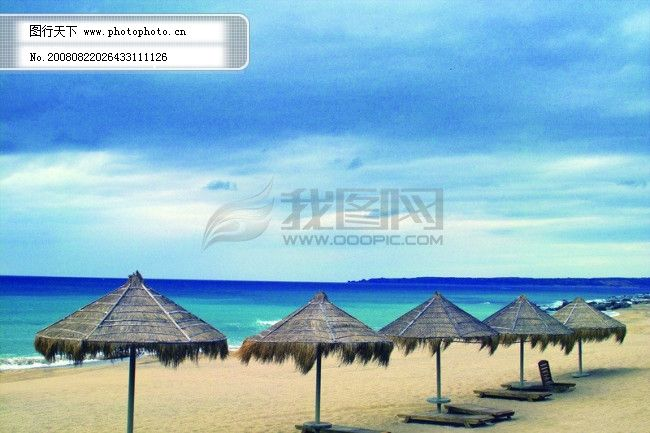 夏日 风光 风情 海 海边 椰树 风景 渡假 假日 游玩 享受 海滩 蓝天
