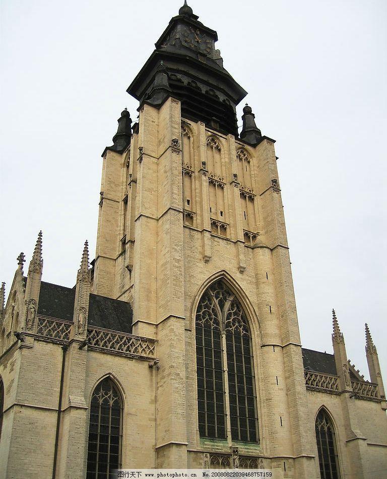 巴洛克钟楼 钟楼 楼房 建筑 欧式 十字架 建筑园林 建筑摄影 摄影图库