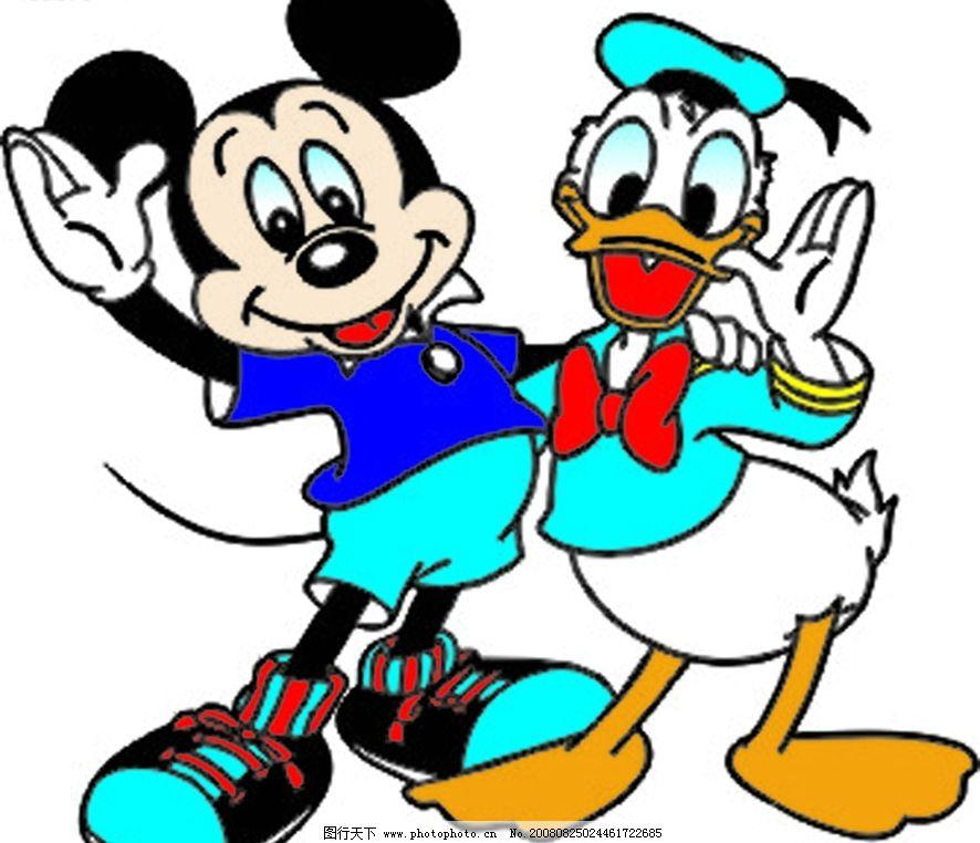 唐老鸭与米老鼠 生物世界 野生动物 唐老鸭 矢量图库 cdr