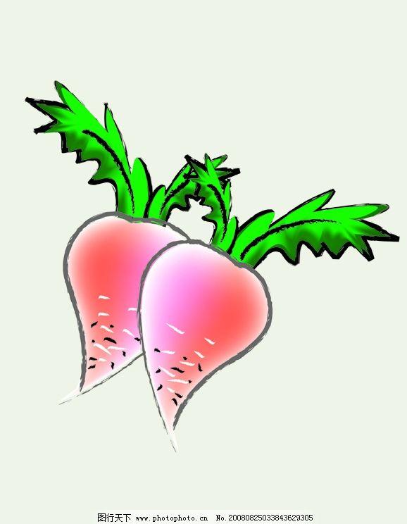 卡通萝卜 红萝卜 青萝卜叶 背景 其他矢量 矢量素材 矢量图库
