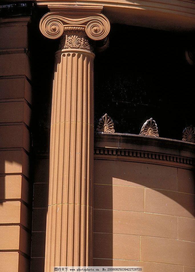 柱子 罗马柱 圆柱 希腊 雅典 古典建筑 欧式建筑 欧式 建筑园林 建筑