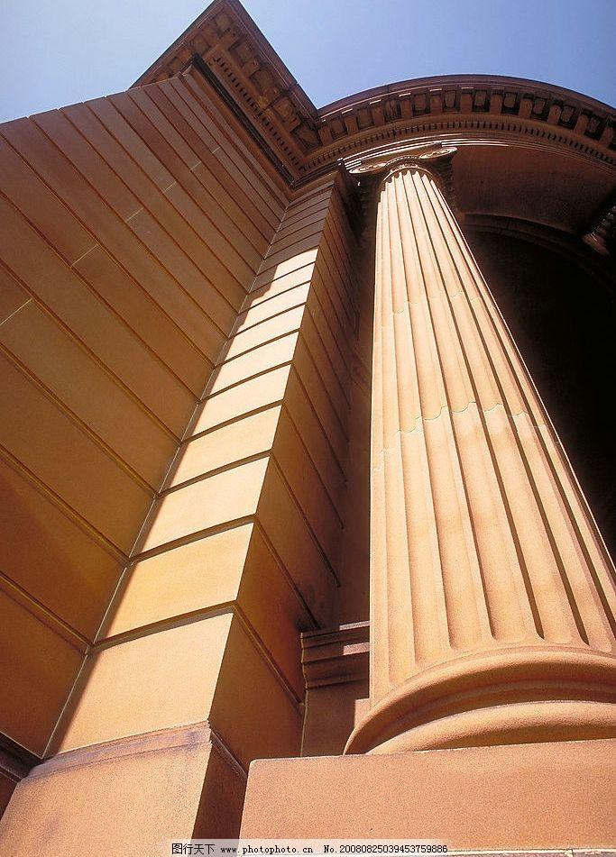 柱子 圆柱 罗马柱 希腊 雅典 古典建筑 建筑园林 建筑摄影 摄影图片—