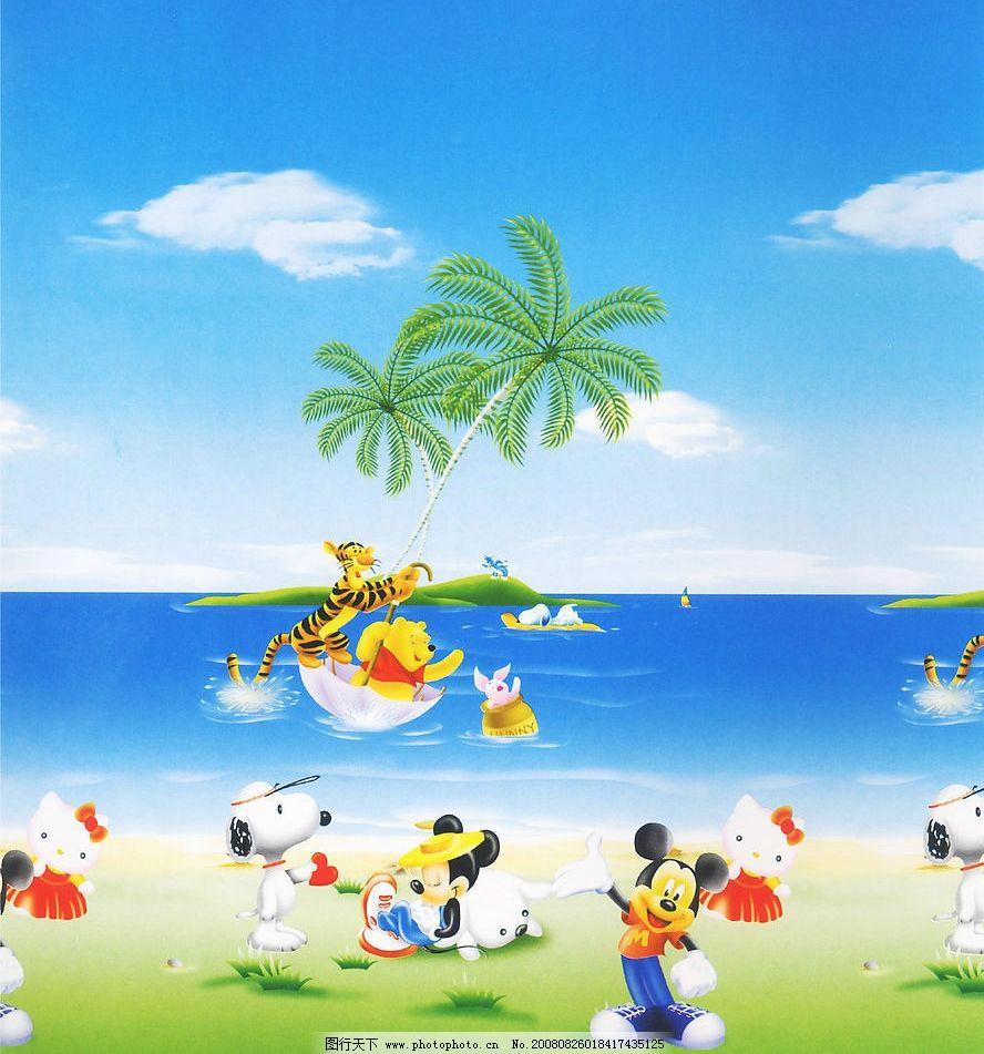 大海 草地 史努比 kt猫 米奇 老虎等迪士尼动物 动漫动画 风景漫画