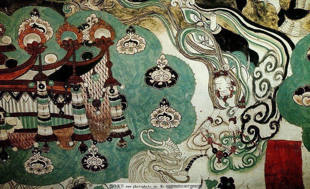 敦煌壁画 飞天 文化艺术 绘画书法 设计图库 300dpi jpg图片