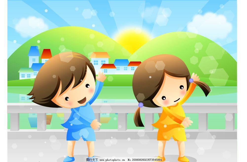 遇见小朋友女孩人物女生校园事情高山科学a女孩帆船画画男孩的图片