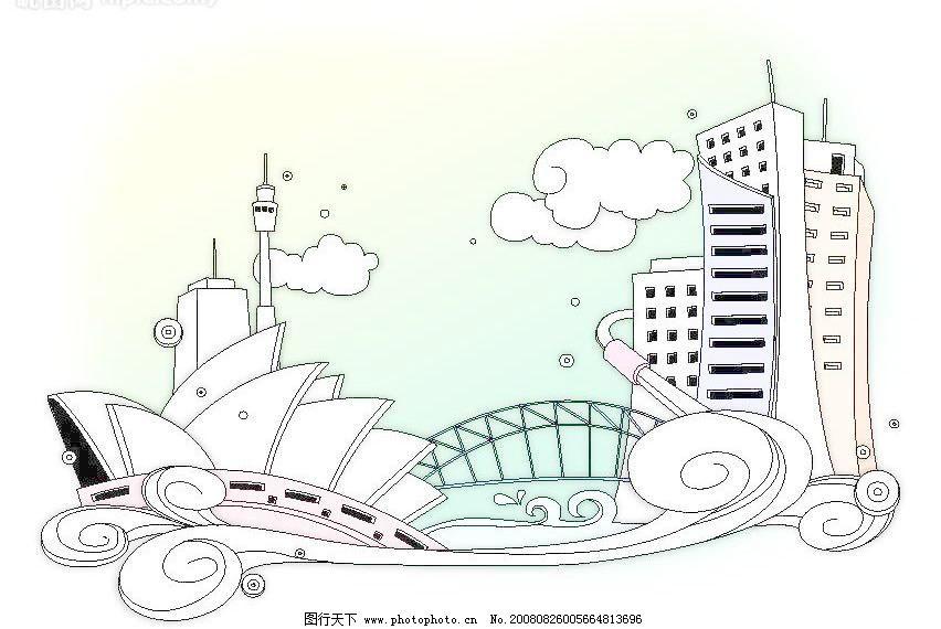 城市怎么画简笔画