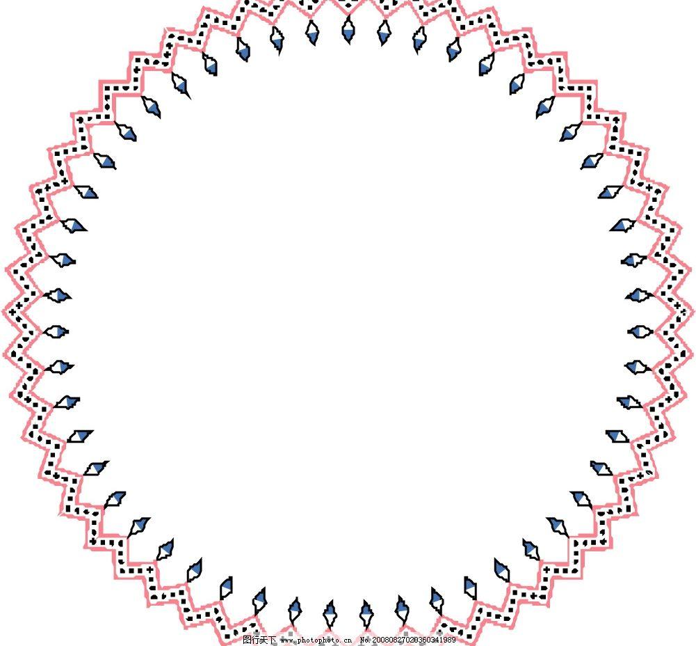 圆环 圆圈 圈圈 边框 花环 圆框 底纹边框 花纹花边 矢量图库 eps