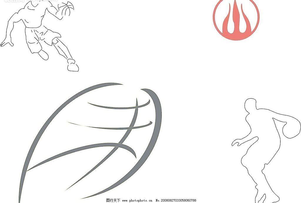 篮球手绘学习 铅笔画