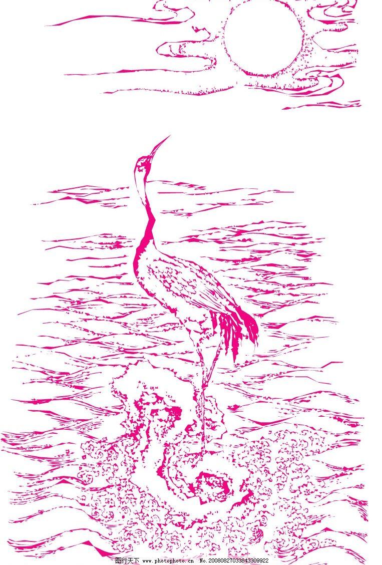 仙鹤矢量图4图片