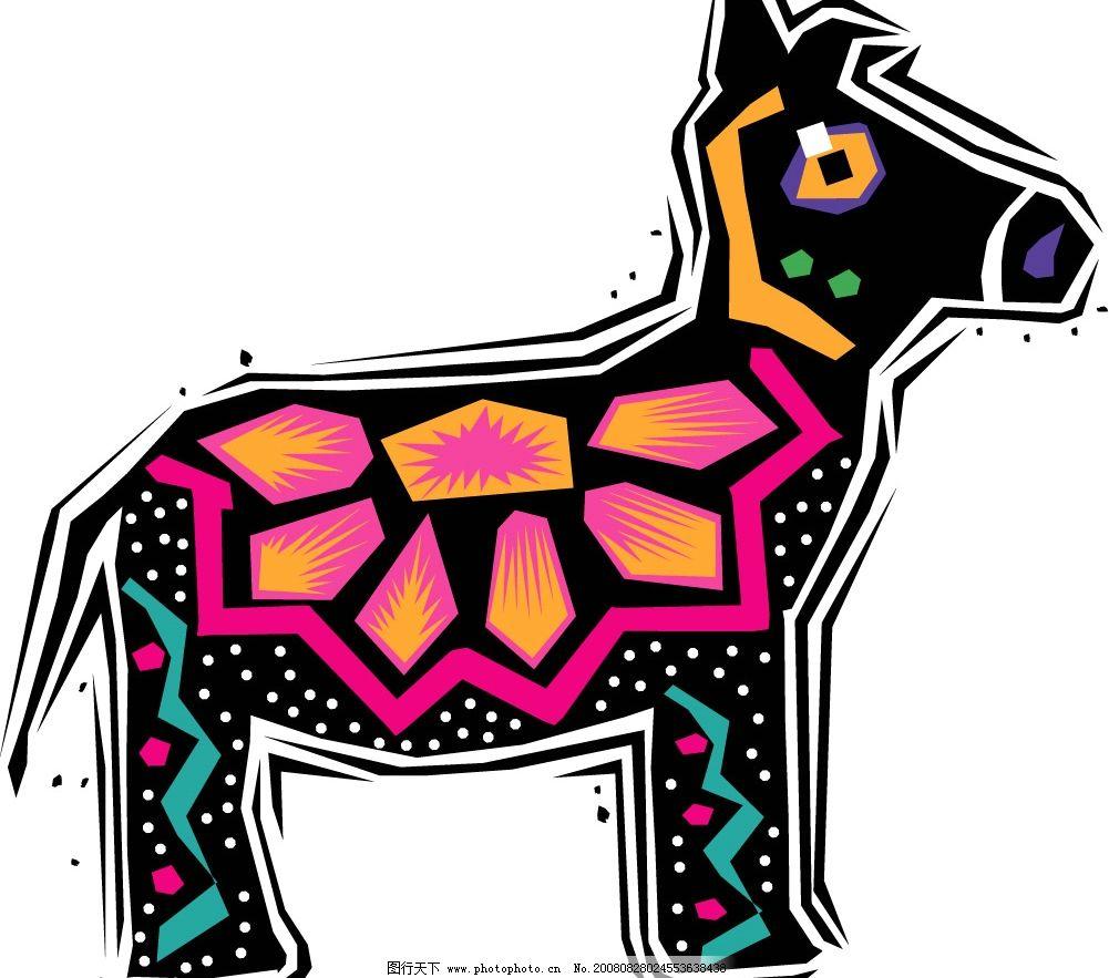 手绘动物矢量素材图片