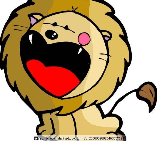 狮子座2 矢量星座图标 十二星座 卡通形象 可爱星座矢量图 多种狮子座