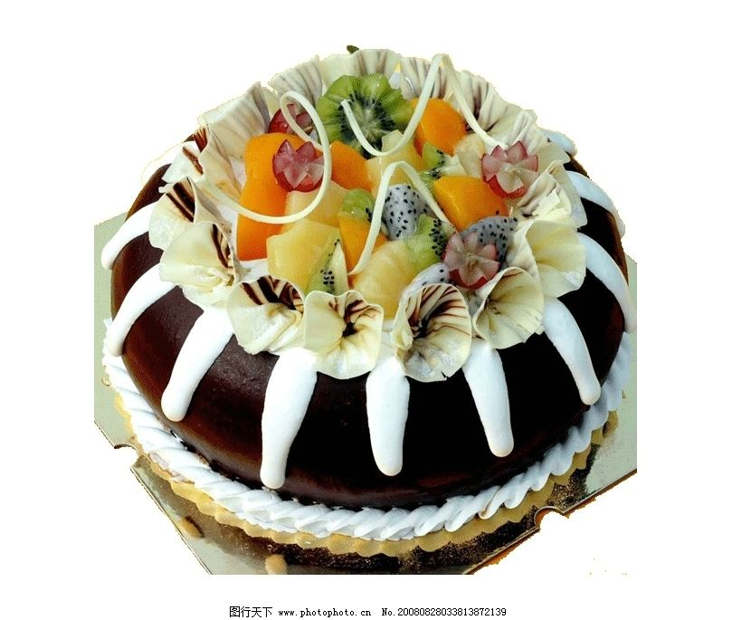 透明背景西式蛋糕 巧克力蛋糕 水果蛋糕 西点 图片素材